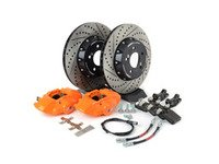 ES#3184073 - 009607ecs01aKT4 - ECS F30 M Performance Rear Big Brake Kit - Orange - Upgrade to the F30 M Performance calipers with larger 2-piece rotors and stainless steel brake lines - ECS - BMW
