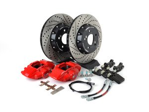 ES#3184075 - 009607ecs01aKT6 - ECS F30 M Performance Rear Big Brake Kit - Red - Upgrade to the F30 M Performance calipers with larger 2-piece rotors and stainless steel brake lines - ECS - BMW