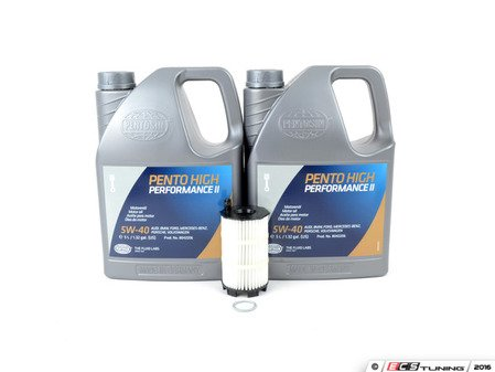 ES#250227 - C6A6BVJSK5-40 - ECS Tuning Oil Service Kit - Includes 10 Liters Pentosin 5w-40 Synthetic 502 rated motor oil, oil filter, and drain plug sealing washer - Assembled By ECS - Audi