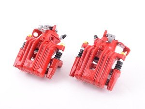 ES#3160748 - S2574 - Rear Brake Calipers - Pair - Restore braking performance with fresh new powdercoated parts - Power Stop - Audi Volkswagen