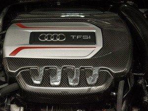 ES#3184754 - 034-1ZZ-0003 - Carbon Fiber Engine Cover  - Tastefully complement your engine bay with a beautiful carbon fiber weave. - 034Motorsport - Audi Volkswagen