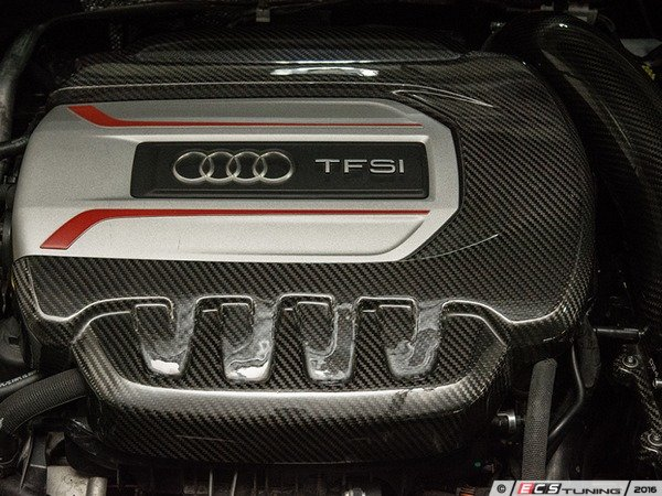 ES#3184754 - 034-1ZZ-0003 - Carbon Fiber Engine Cover  - Tastefully complement your engine bay with a beautiful carbon fiber weave. - 034Motorsport - Audi Volkswagen