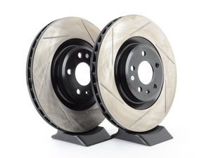 ES#3135670 - 126.33124SLkt - Front Slotted Brake Rotors - Pair (345x30mm) - Upgrade your stopping power - StopTech - Audi
