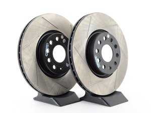 ES#3136988 - 126.33098CslKT - Front Slotted Cryo Treated Rotors - Pair (312x25) - Upgrade your stopping power - OE# 1K0615301AA - StopTech - Audi Volkswagen