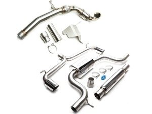 "ES#3187660 - VLK00200TB - MK7 GTI 3"" Turbo Back Exhaust System - Stainless Steel - Get that Exhaust tone you've been looking for! Features 3"" turboback construction with high flow cat and dual polished tips - CobbTuning - Volkswagen"