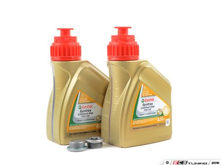 ES#3170083 - f8xdiffKT1 - Differential Service Kit - All you need in one package for scheduled differential maintenance! With Castrol SAF-XJ Differential Fluid. - Assembled By ECS - BMW