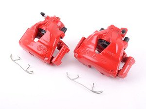 ES#3148871 - S2014 - Front Brake Calipers - Pair - Restore braking performance with red powdercoated parts. - Power Stop - Volkswagen