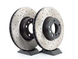 ES#3033146 - 34216792233CDS - Cross-Drilled & Slotted Brake Rotors - Rear  - This design removes performance robbing outgas and material dust caused by braking - StopTech - BMW