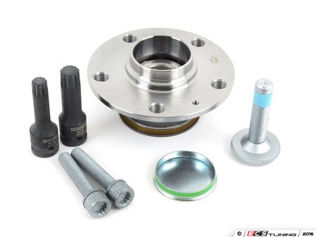 ES#3187891 - 1k0598611kt2 - Rear Wheel Bearing Service Kit  - Necessary components for a complete rear wheel bearing replacement for one side - Assembled By ECS - Audi Volkswagen