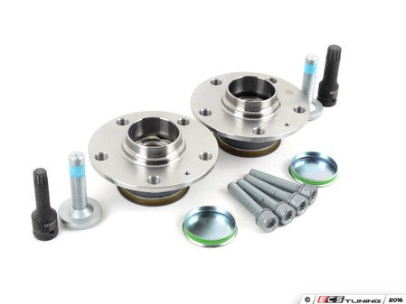 ES#3187892 - 1k0598611kt3KT - Rear Wheel Bearing Service Kit  - Necessary components for a complete rear wheel bearing replacement for both sides - Assembled By ECS - Audi Volkswagen