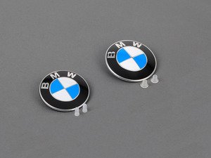 ES#3187863 - 51147146051KT2 - Hood And Trunk Roundel Emblems With Grommets - Genuine BMW - BMW