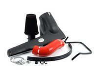 ES#3184618 - FMINDMK7RED - Carbon Fiber Cold Air Intake System - Red Hose - Beautiful Carbon weave with a Matte Carbon finish - Forge - Audi Volkswagen