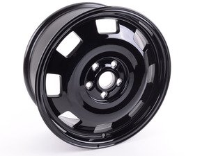 "ES#3188207 - 5c0601025max1KT - 17"" Turbine - Gloss Black - Priced Each - 17""x7"" ET43 5x112 - Includes trim ring with silver spokes and chrome center cap - Genuine Volkswagen Audi - Volkswagen"