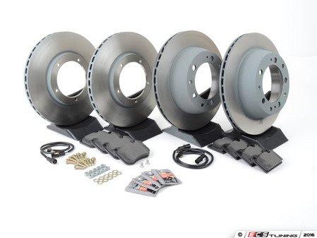 ES#2597615 - 477405083AOEKT - Front & Rear Brake Service Kit - Featuring Sebro rotors and Mintex brake pads - Assembled By ECS - Porsche