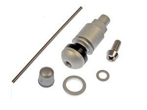 ES#3189309 - 609-141.1 - Metal Valve Stem - Silver - For vehicles with Tire Pressure Monitor Sensors - 4 required - Dorman - Audi Volkswagen Porsche