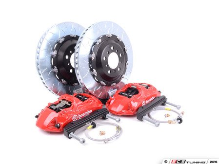 ES#2852599 - 1N3.9003A2 - front Brembo GT 6 piston Big Brake Kit (380x34mm) - Upgrade to 2 piece rotors (slotted), 6 piston calipers (red), & high performance Brembo pads - Brembo - BMW