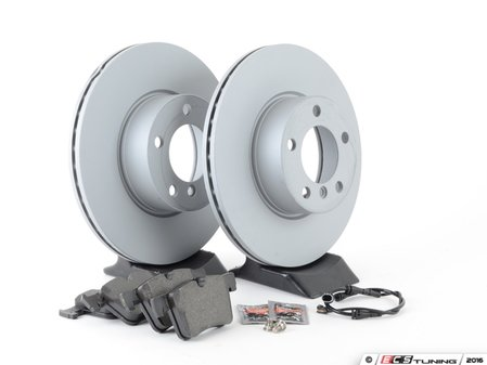 ES#2862346 - 34116792219KT3 - Front Brake Service Kit - Featuring Zimmermann rotors and Textar pads - Assembled By ECS - BMW