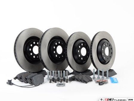 ES#2725425 - 1K0615301MPAKT - Front And Rear Brake Service Kit - Everything you'll need to perform a complete brake system service on your vehicle - Assembled By ECS - Volkswagen