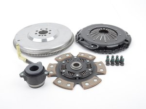 ES#3021860 - BFI20T3240ST4 - BFI Stage 4 Clutch Kit - Forged Steel Flywheel (18.85lbs) - Includes a lightweight 4140 forged steel flywheel, performance pressure plate and sprung 6-puck ceramic clutch disk. Rated for 500wtq. - Black Forest Industries - Volkswagen