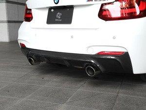 ES#3175928 - 3108-22211 - Carbon Fiber Rear Diffuser - Dual Exhaust - Individualize your BMW's looks with this carbon fiber rear diffuser - 3D Design - BMW