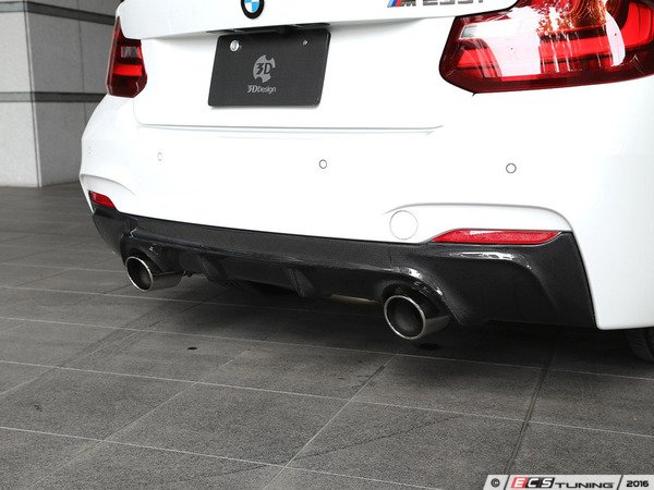 ES#3175928 - 3108-22211 - Carbon Fiber Rear Diffuser - Dual Exhaust - Individualize your BMW's looks with this carbon fiber rear diffuser - 3D Design - BMW