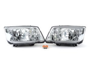 ES#3021440 - LHJET99RS - OE Style Headlight Set - Chrome - With fog lights, with clear turn signals - Spec-D Tuning - Volkswagen