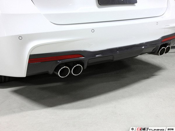 ES#3175932 - 3108-23021 - Carbon Fiber Rear Diffuser - Quad Exhaust - Individualize your BMW's looks with this carbon fiber rear diffuser - 3D Design - BMW
