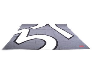 "ES#2597065 - 80162294789 - MINI Scarf ""JCW 37"" - Unisex glam scarf in gray / white with red flags - Genuine MINI - MINI"