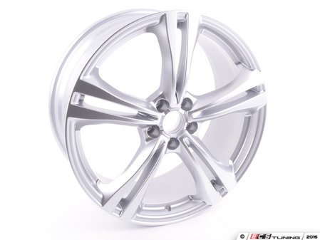 "ES#2633011 - 4G0601025BT - 20"" Double 5-Spoke Wheel - Priced Each - 20""x8.5"" ET45 5x112 Silver - Genuine Volkswagen Audi - Audi"