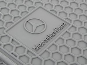 ES#1827995 - Q6680688 - All-Season Floor Mats - Set Of Four - Grey Color - Genuine Mercedes Benz - Mercedes Benz