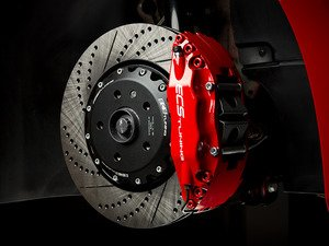 Front Big Brake Kit - Stage 3 - 2-Piece Cross-Drilled & Slotted Rotors (352x32)