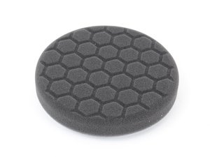ES#2618990 - BUFX106HEX5 - Hex-Logic Finishing Pad, Black (5.5 Inch) - The new and improved pad design builds on the tried-and-true dependability and effectiveness of the Hex-Logic concept, and takes detailing to the next level. - Chemical Guys - Audi BMW Volkswagen Mercedes Benz MINI Porsche