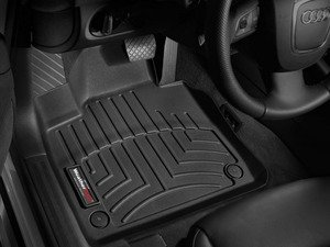 ES#2837618 - 442181 - Front FloorLiner DigitalFit - Black - Laser measured for perfect fitment and ultimate protection against moisture and debris - WeatherTech - Audi