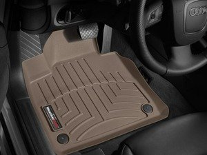 ES#2837788 - 452181 - Front FloorLiner DigitalFit - Tan - Laser measured for perfect fitment and ultimate protection against moisture and debris - WeatherTech - Audi