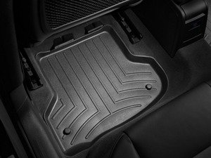 ES#2837619 - 442182 - Rear FloorLiner DigitalFit - Black  - Laser measured for perfect fitment and ultimate protection against moisture and debris - WeatherTech - Audi