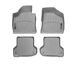 ES#3194700 - 462181KT - FloorLiner DigitalFit Set - Grey - Laser measured for perfect fitment and ultimate protection against moisture and debris - WeatherTech - Audi