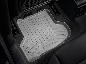 ES#2837951 - 462182 - Rear FloorLiner DigitalFit - Grey - Laser measured for perfect fitment and ultimate protection against moisture and debris - WeatherTech - Audi