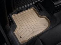ES#2837789 - 452182 - Rear FloorLiner DigitalFit - Tan - Laser measured for perfect fitment and ultimate protection against moisture and debris - WeatherTech - Audi