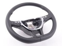 ES#3151385 - 5C0419091EAE74 - Piano Black Steering Wheel With Paddles - With Cruise Control - Black leather with black stitching, airbag not included - Genuine Volkswagen Audi - Volkswagen