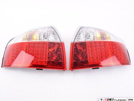 ES#2808117 - 4411946PTAECR - LED Tail Light Set - Red/Clear - Upgrade your stock tails with these LED tail lights - Depo - Audi