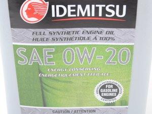 ES#3194919 - 20102042b - Motor Oil 0W-20 GF-5 - 1 Quart - IDEMITSU -