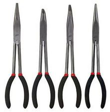 ES#2939097 - ATD814 - Long Needle Nose Pliers 4 Pc. Set - Don't come up short, these long needle nose pliers can get you out of a jam. - ATD Tools - Audi BMW Volkswagen Mercedes Benz MINI Porsche
