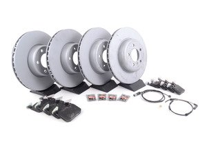 ES#3184227 - 341167922231KT - Front & Rear Brake Service Kit - Featuring Zimmermann rotors and TRW pads - Assembled By ECS - BMW