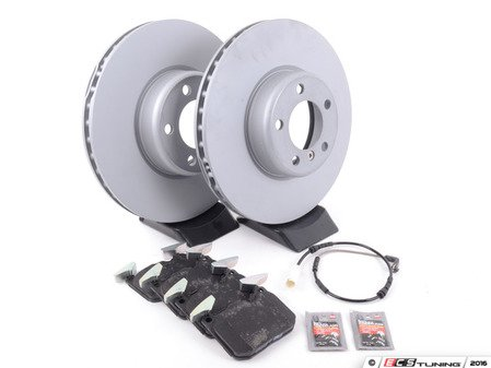 ES#3184231 - 34116792219KT4 - Front Brake Service Kit - Featuring Zimmermann rotors and TRW pads. (340x30mm Rotors) - Assembled By ECS - BMW