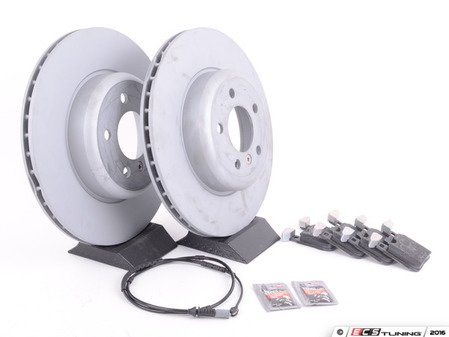 ES#3184241 - 34216792227KT3 - Rear Brake Service Kit - Featuring Zimmermann rotors and TRW pads - Assembled By ECS - BMW