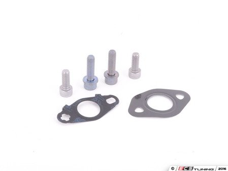 ES#3176168 - 06D145735BKT - Turbo Oil Line Install Kit (Return)  - Consists of necessary gaskets and hardware for a complete oil return line install - Assembled By ECS - Audi