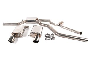 "ES#1899388 - FPIM-0604 - 2.25"" Cat-Back Exhaust System - Dual Exit Single Tips (Fully Polished) - Fully polished system with 3"" downpipe and 4.25"" tips - Billy Boat Performance - Audi"