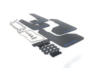 ES#3129668 - MF40URBLKBL - Mud Flap Kit - Black With Blue Logo - Durable, polyurethane mud flaps - Rally Armor - Volkswagen