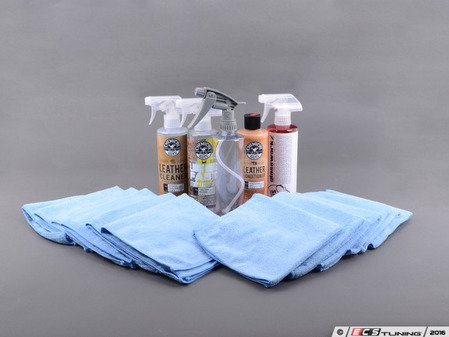 ES#2622739 - 1234CGLI - Basic Leather Interior Detail Kit - Keep your leather interior looking warm and inviting with this kit - Chemical Guys - Audi BMW Volkswagen Mercedes Benz MINI Porsche