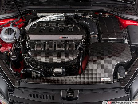 """ES#3175238 - 009199ECS01-01 -  Kohlefaser Luft-Technik Intake System - With Silicone Inlet Tube - In House Engineered """"Air Technology!"""" Featuring Carbon Fiber Dual Air Inlet Lid, Silicone Turbo Inlet Coupler and Coolant Reroute Hose - ECS - Audi Volkswagen"""